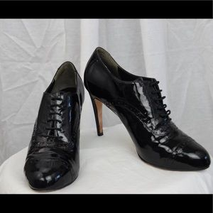 Cole Haan Patent Leather Bootie NIKEAIR sole SZ 7B